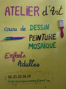 panneau-atelier-art-mosaique-mimi-vermicelle-cours-enfant-adulte-savenay