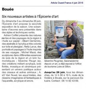 Article paru sur Ouest France le 4 juin 2016
