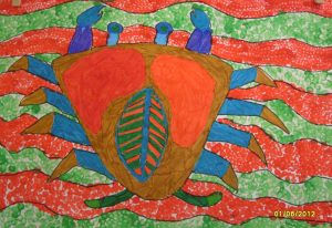 peinture-facon-aborigene-australie-enfant-atelier-mimi-vermicelle-savenay-severine-peugniez