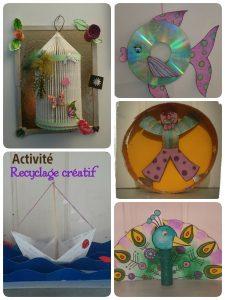 Création d'objets, utilisation du papier, du carton, des matériaux de récupération et transformation en oeuvres d'art !